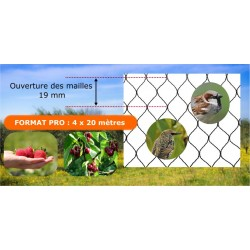 Filet de protection noir - 4 x 20 m