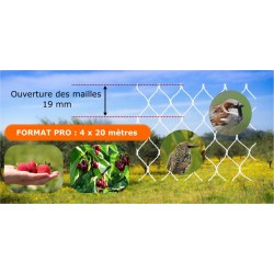 Filet de protection blanc - 4 x 20 m