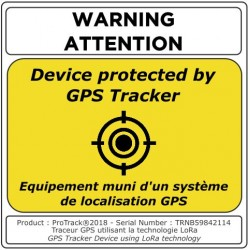 GPS Tracker sticker
