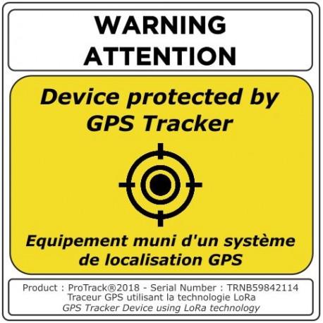 Autocollant traceur GPS