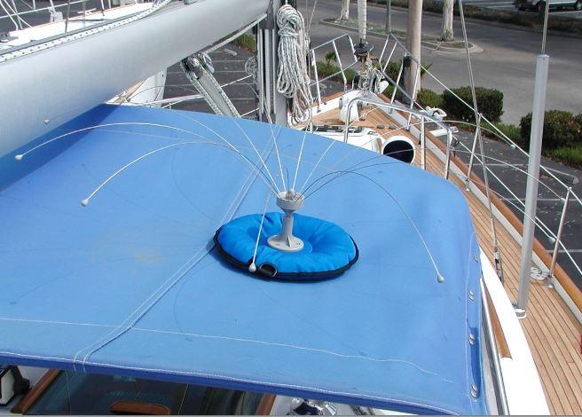 Protection bateaux mouettes goélands déjection pic rotatif